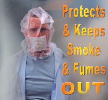 Zivilschutzmaske MUSKI - preiswert, kompakt - schützt Atemwege und Augen bei Terror-Attentat mit Senfgas, Saringas, Chlorgas und bei Brandrauch - ermöglicht Selbstrettung oder sicheren Aufenthalt